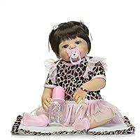 Reborn新生児ガールズフルボディシリコンベビービニール人形22インチRealisticで子供磁気おもちゃおしゃぶり