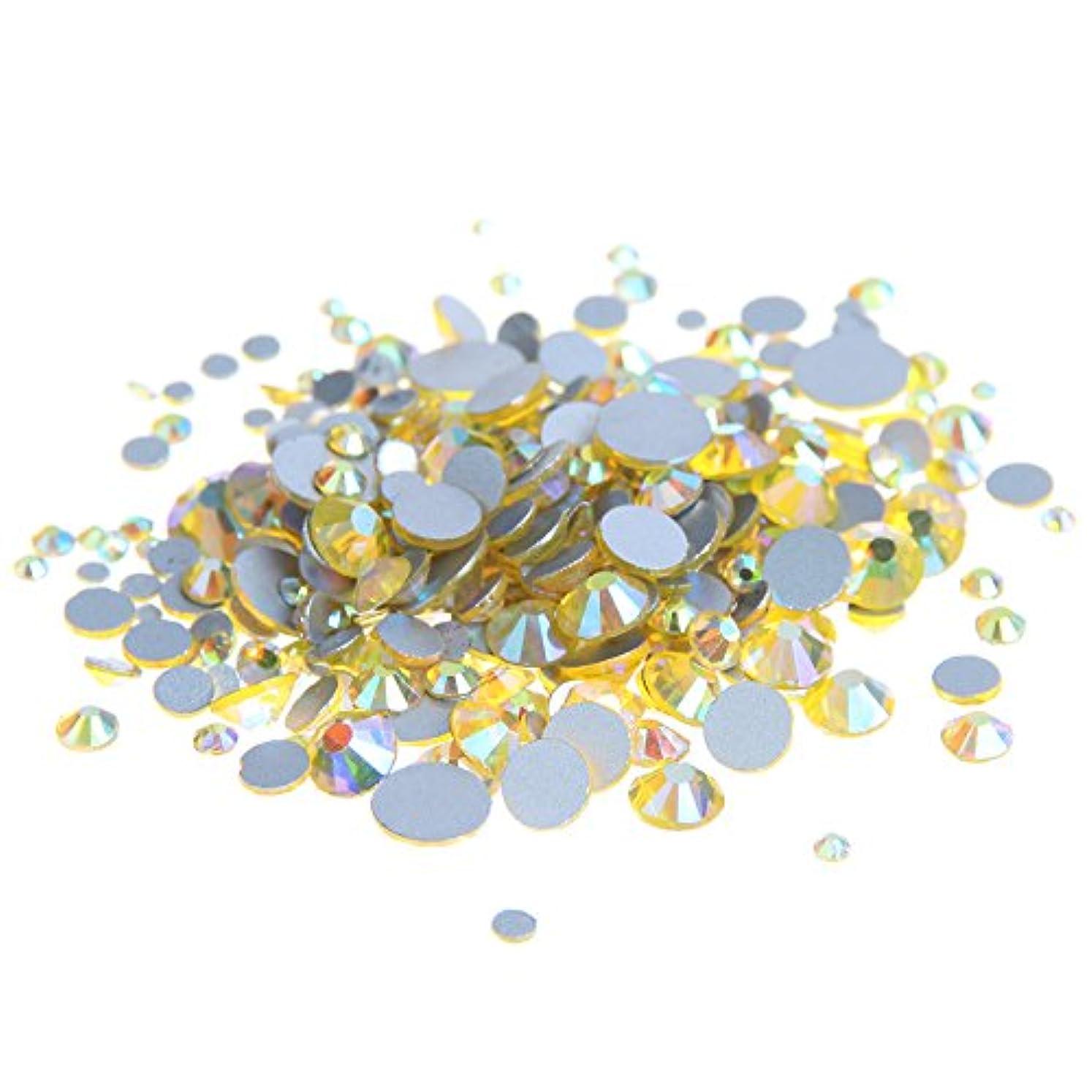 レシピアクティビティ時制Nizi ジュエリー ブランド シトリンオーロラ ラインストーン は ガラスの材質 ネイル使用 型番ss3-ss30 (混合サイズ 1000pcs)