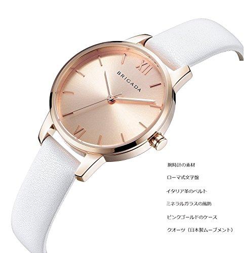 cafab464dc7f BRIGADA 高級 時計 レディース ブランド 人気、ホワイト 可愛い ファッション 腕時計 レディース ブランド 人気、自分用もしくは親戚お友達恋人へ贈る  レディース ...