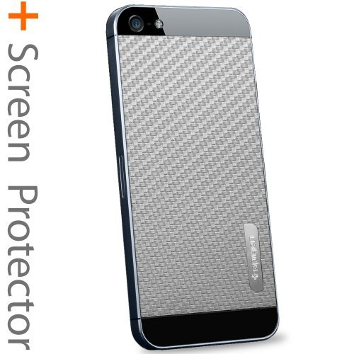 国内正規品SPIGEN SGP iPhone5/5S スキンガード [カーボン・グレイ] SGP09570
