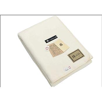 日本製 シルク 100 % 毛布 (毛羽部) ハーフ サイズ ヘリも 絹 無染色 オフホワイト 公式三井毛織 国産