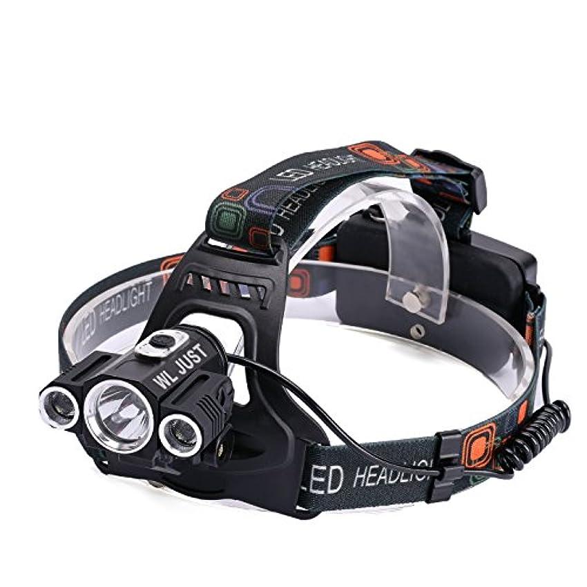 引退する神バーチャル[WL JUST] 3灯CREE XM- T6 LED超高輝度ヘッドライト 3灯角度調節可能 自転車ライト変身可能