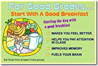 For Good Grades。。。Goodと朝食を開始–教室健康ポスター