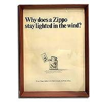 ZIPPO ジッポライター 品番01 1960年代 ビンテージ広告 ポスター アートフレーム 額付