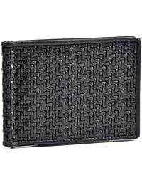 Zegna(ゼニア) 財布 メンズ PELLE TESSUTA 2つ折り財布 NERO E1245P-PTA-NER [並行輸入品]
