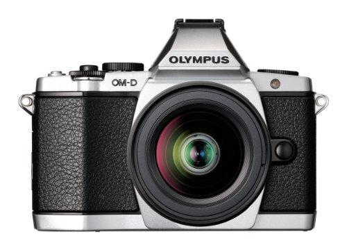 OLYMPUS デジタルマイクロ一眼カメラ OM-D E-M5 レンズキット シルバー 1605万画素 144万ドット電子ビューファインダー 5軸対応手ぶれ補正 防塵 防滴 OM-D E-M5 LKIT SLV