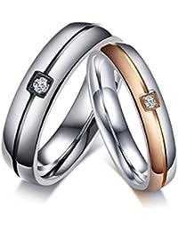 [ティンティンローズ]TingTing Rose ジュエリー カップルリング ペアリング メンズ レディース ジルコニア ツートン 指輪 ブラック ローズゴールド