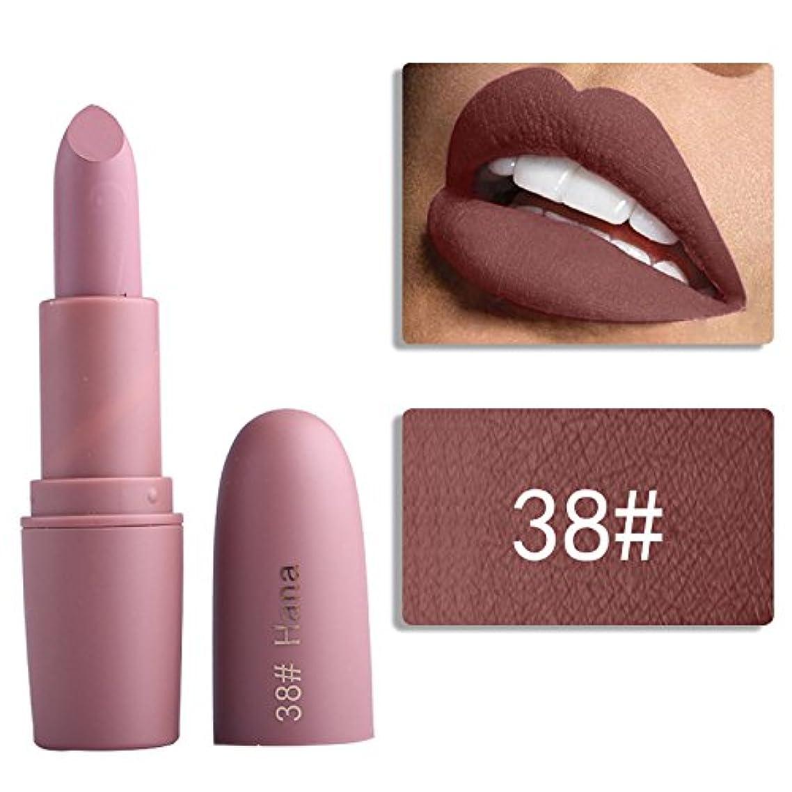 連帯騒バリケードMiss Rose Nude Lipstick 22 colors Waterproof Vampire Brown Beauty Baby Lips Batom Matte lipstick Makeup Tats Eugenie...