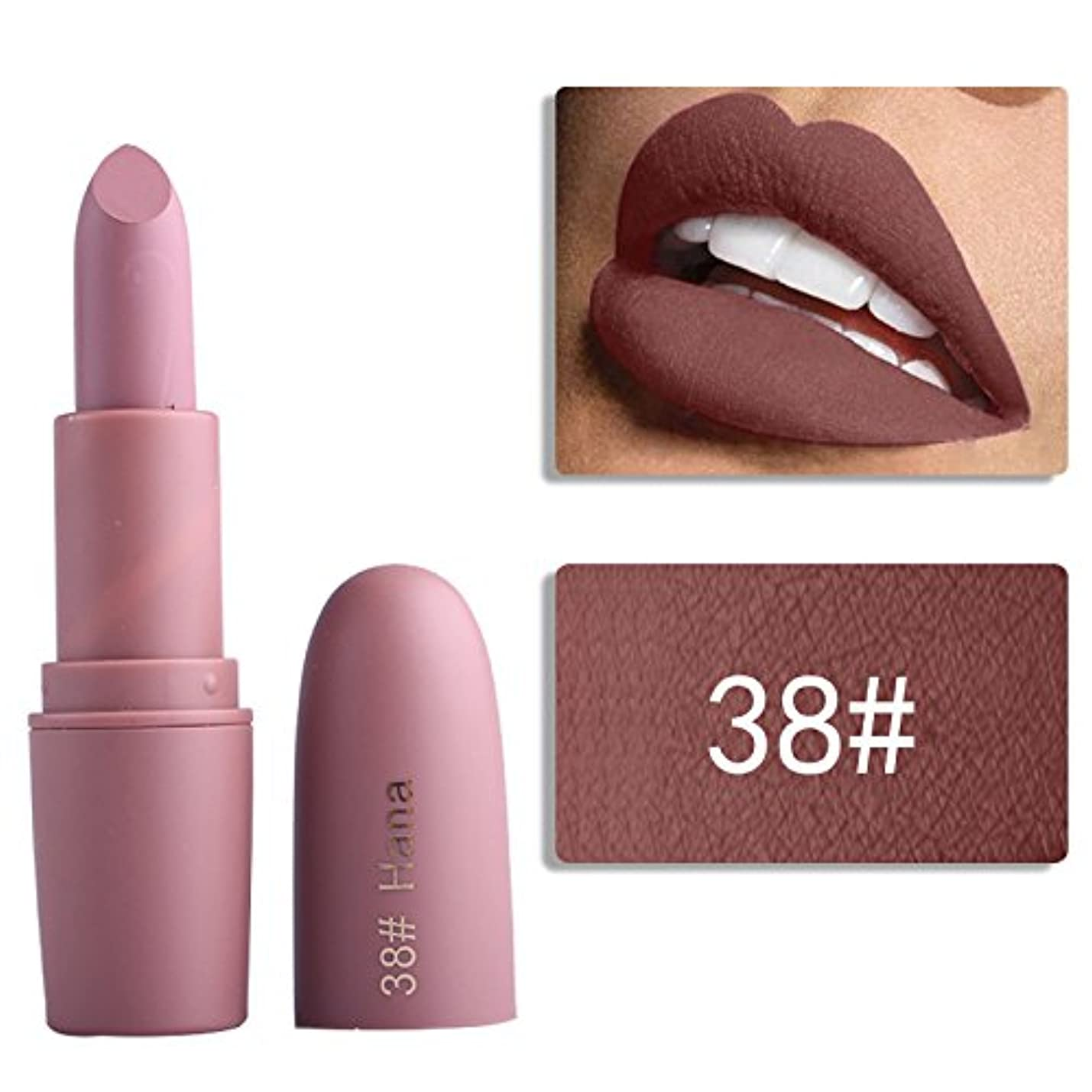 比類なき顕著中央Miss Rose Nude Lipstick 22 colors Waterproof Vampire Brown Beauty Baby Lips Batom Matte lipstick Makeup Tats Eugenie...