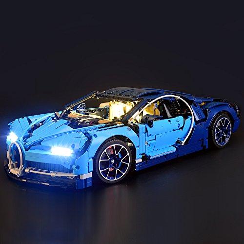 テクニック ブガッティ・シロン ブロック組み立てモデル 対応 Lightailing LEDライトセット – レゴ 42083 対応LEDライトキット (本体別売)