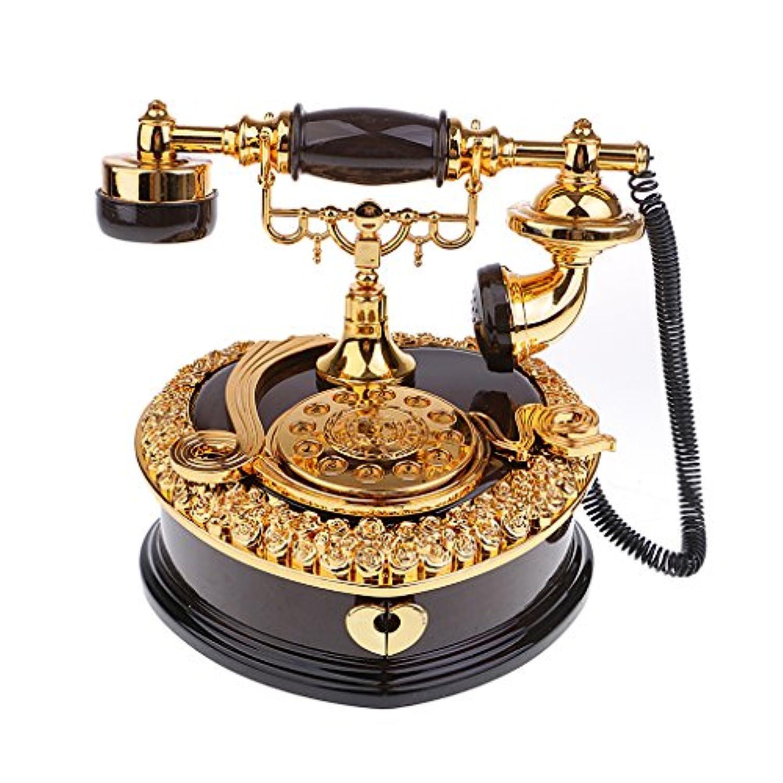 Baosity クラシック 電話模型 オルゴール ジュエリーケース テーブル オーナメント 女性 誕生日 ギフト
