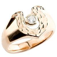 [アトラス] Atrus メンズ ハワイアンジュエリー 印台 指輪 リング ダイヤモンド ピンクゴールド 18金 廉価版 16号
