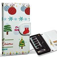 スマコレ ploom TECH プルームテック 専用 レザーケース 手帳型 タバコ ケース カバー 合皮 ケース カバー 収納 プルームケース デザイン 革 クリスマス ツリー 飾り 013796