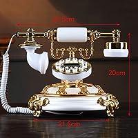 アンティーク電話のホームコード付き電話クリエイティブ樹脂レトロ固定電話番号のボタンのダイヤルとクラシックメタルの着信音 ( 色 : Luminous version )