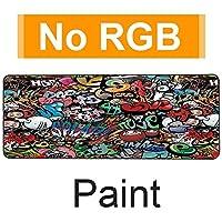 YONG RGBゲーミングマウスパッド、ソフトは特大マウスパッドXL、13照明モードノンスリップラバーベースコンピュータのキーボードマウスパッドマット31.5×11.8インチの拡張します (Color : RGB Paint, Size : 30x80 cm)