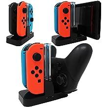 【ジョイコンとプロコンを同時に充電】Joy-Con&Proコントローラー&Switch これ1つで全部充電できる 充電スタンド For Nintendo Switch