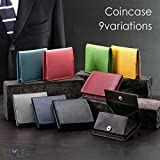 STYLE= 全9色展開のボックス型コインケース/小銭入れサフィアーノレザー製