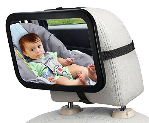 LENDOO ベビーミラー 車用 赤ちゃんの様子を確認 インサイトミラー 曲...