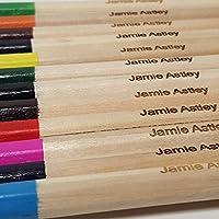 木製塗り絵鉛筆 12本パック 名前入りボックス 色鉛筆 学校やギフトに カスタマイズ可