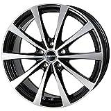 【適合車種:スバル フォレスター(SJ系)2012~ サマータイヤセット】 YOKOHAMA GEOLANDAR SUV G055 225/60R17 夏用タイヤとホイールの4本セット アルミホイール:HOT STUFF ラフィット LE-03_ブラックポリッシュ 7.0-17 5/100 (17インチ サマータイヤセット)
