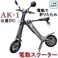 折りたたみ電動バイク AK-1(グレー)