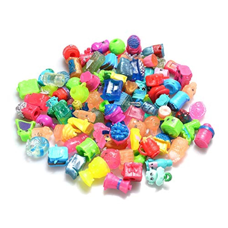 elegantstunning ペンのおもちゃのキャップ、 フルーツファミリーの新しいプラスチック製の小さなおもちゃ かわいい役割遊ぶ人形のおもちゃ - 100個