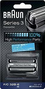 【正規品】 ブラウン シェーバー シリーズ3 網刃・内刃一体型カセット ブラック F/C32B-6