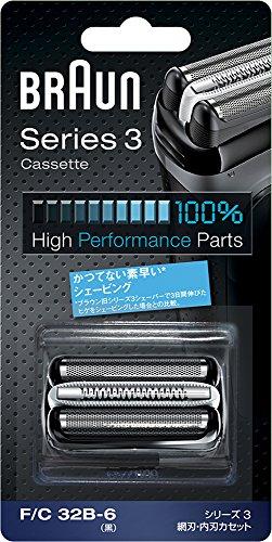 【正規品】 ブラウン シェーバー シリーズ3 替刃 網刃・内刃一体型カセット ブラック F/C32B-6