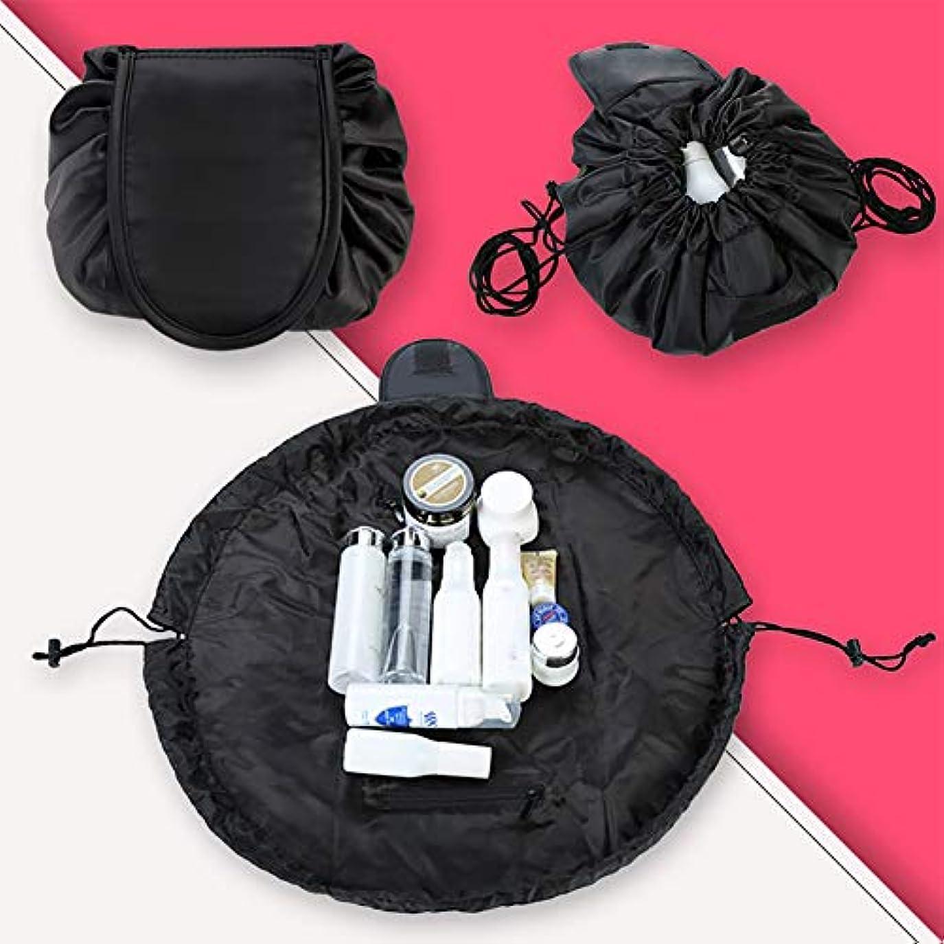 スロー感謝する比率YWSHF メイクポーチ 化粧品収納 ケース 大容量 持ち運び 携帯 便利 大人 女の子 使いやすい 無地 ふわふわ おしゃれ 小物入れ 大き目 旅行 化粧ポーチ 黒