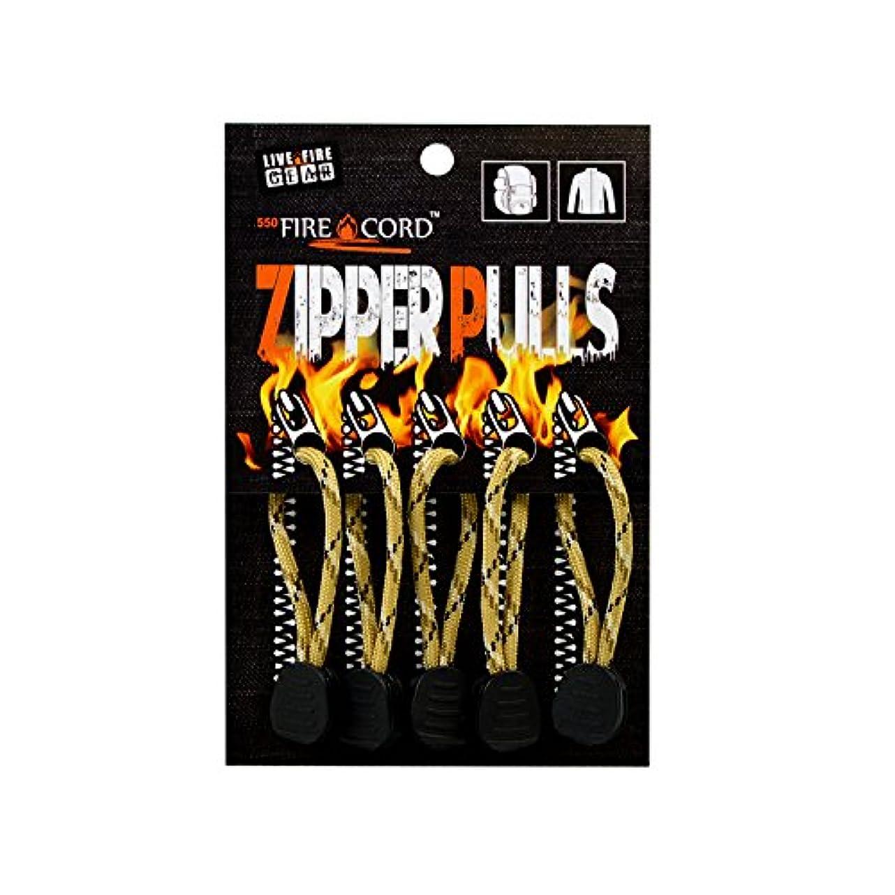 アプライアンス含める適応Bush Craft(ブッシュクラフト) ファイヤーコードジッパープル(Fire Cord Zipper Pulls)デザートストームカモ 02-03-550f-0014