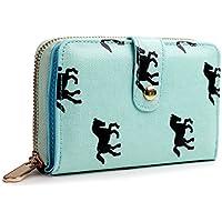 Miss Lulu Women Purse Wallet Flower Bird Horse Matte Oilcloth Clutch Hand Bag