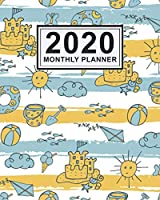 2020 Monthly Planner: Beach Daily Weekly Monthly Calendar 2020 Planner  | January 2020 to December 2020