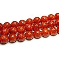 【hinryo】 赤龍紋瑪瑙 メノウ アゲート 1連38cm チベット産 天然石 パワーストーン (8mm g3-958A)