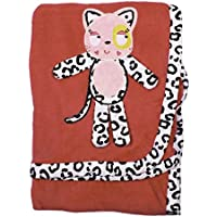 Nuby Animals Cuddly Soft Blanket Manta for Baby (Pink Cat) by uby