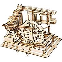 LHYP 3D木製パズル ギアハンドクラフトトラック付き アクセサリー付き メカニカルモデルキット 誕生日/子供の日/イースターへのプレゼントに最適 コグコースター