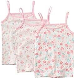 694c65dfb885e Bevalsaキッズ キャミソール 女の子 3枚セット リボン 子供服 袖なし 可愛い インナー 子供 女児
