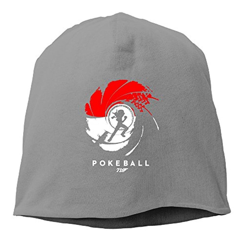 【Dera Princess】ユニセックス ニット帽 POKEBALL 007ロゴ コットン ニットキャップ 帽子 オールシーズン 被れる