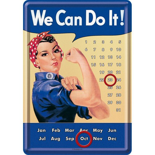 USA We can do it Calender / カレンダー(ブリキ製)
