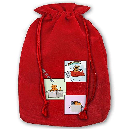ラッピング袋 ナップサック 巾着袋 猫 キティ 箱に隠れる ...