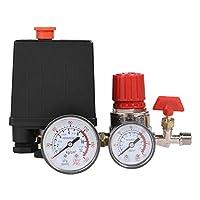 圧力バルブ レギュレータ エアコンプレッサ 急速減圧用 ゲージ付き スイッチ制御