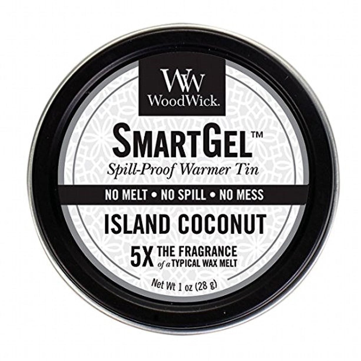 指令月コメントウッドウィック( WoodWick ) Wood Wickスマートジェル 「 アイランドココナッツ 」 W9630560