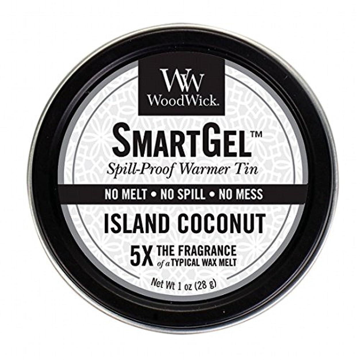 手首馬鹿げたコンパクトウッドウィック( WoodWick ) Wood Wickスマートジェル 「 アイランドココナッツ 」 W9630560