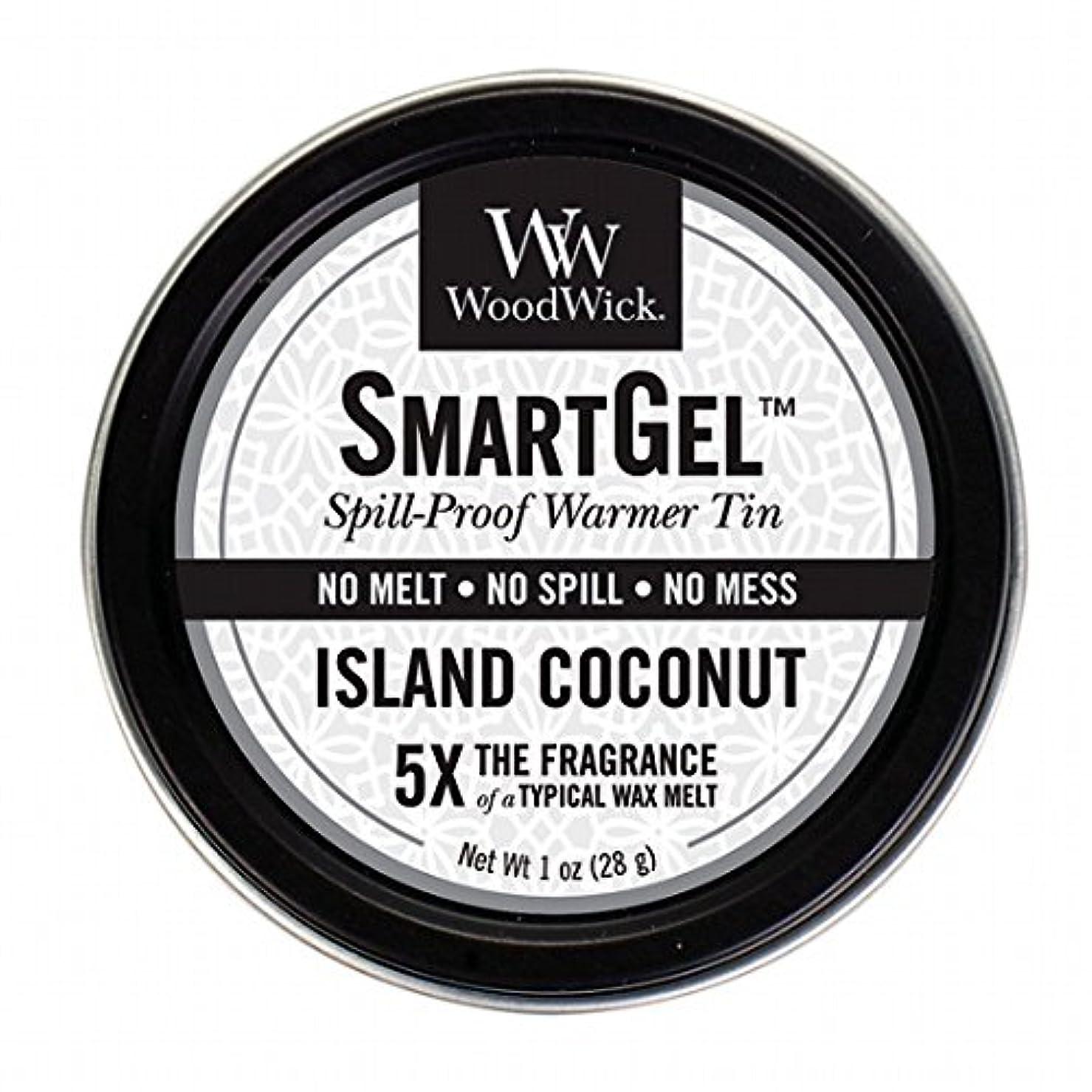 インセンティブ細部濃度WoodWick(ウッドウィック) Wood Wickスマートジェル 「 アイランドココナッツ 」 W9630560(W9630560)
