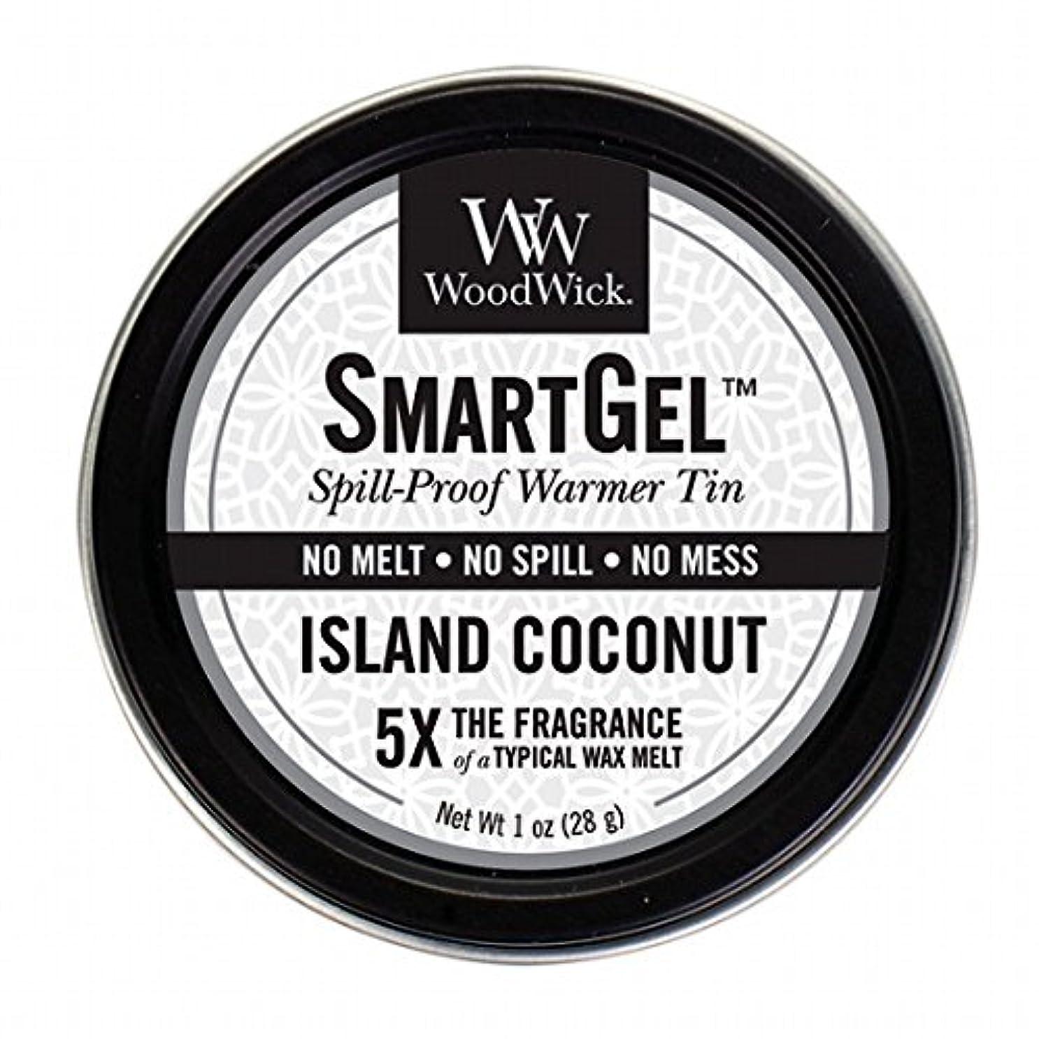 味不定提出するWoodWick(ウッドウィック) Wood Wickスマートジェル 「 アイランドココナッツ 」 W9630560(W9630560)