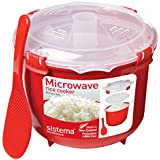 Sistema Microwave Rice Steamer, Red