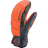 HESTRA HENRIK LEATHER MITT -Flame Red/Navy- size:7
