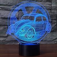 ナイトライト - 7色の変更ナイトライトグッズツェッペリン表デスクランプ漫画の図の子供ベッドサイドLAMPENランプギフトビートルカー