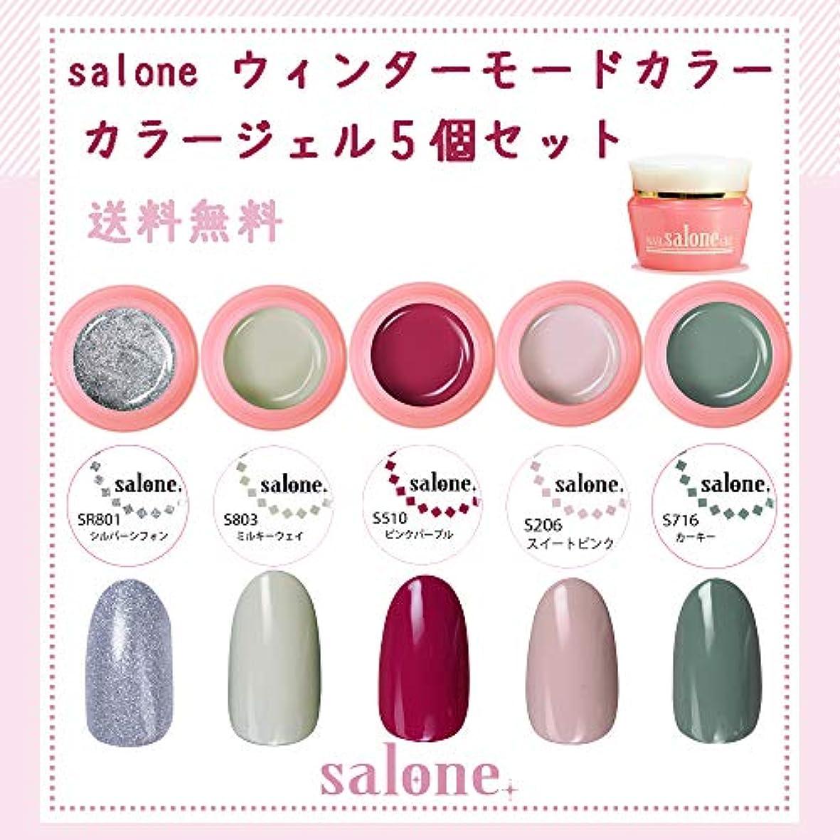 瞑想するお肉気怠い【送料無料 日本製】Salone モード カラージェル5個セット ネイルのマストカラーオシャレなモードカラー