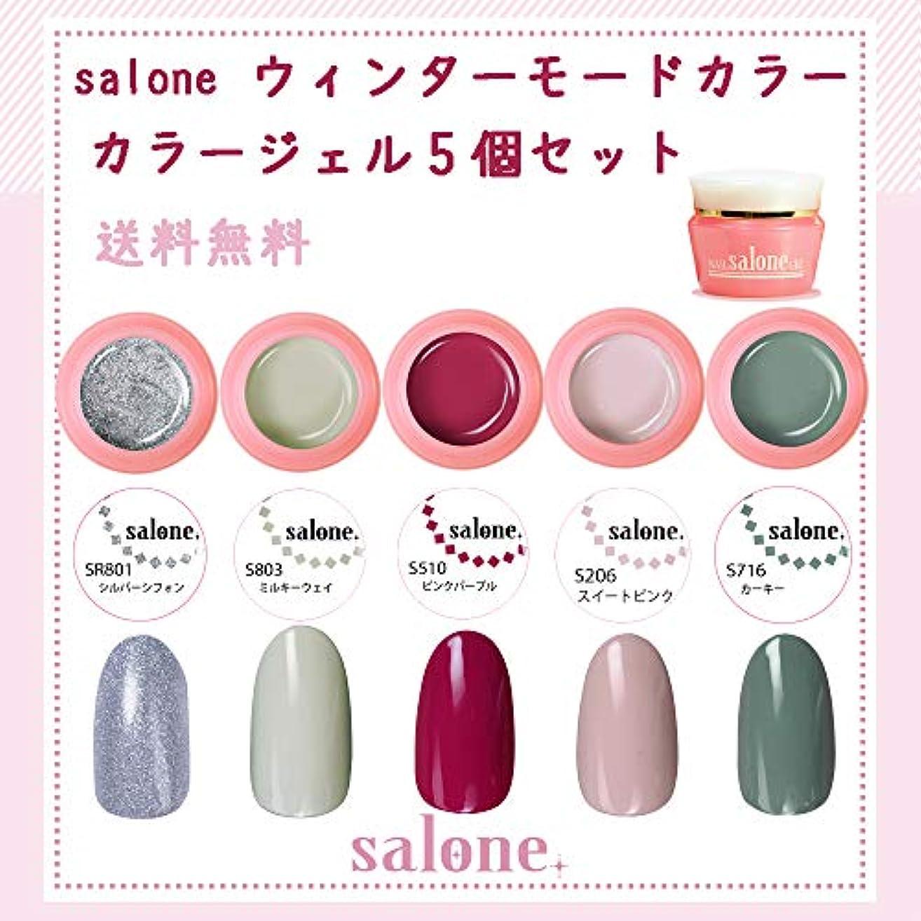 混乱させる引っ張るしっとり【送料無料 日本製】Salone モード カラージェル5個セット ネイルのマストカラーオシャレなモードカラー