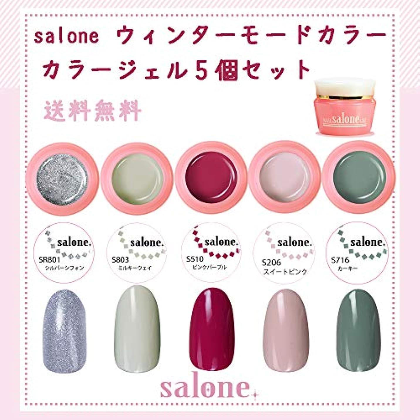 移民言及するコーナー【送料無料 日本製】Salone モード カラージェル5個セット ネイルのマストカラーオシャレなモードカラー